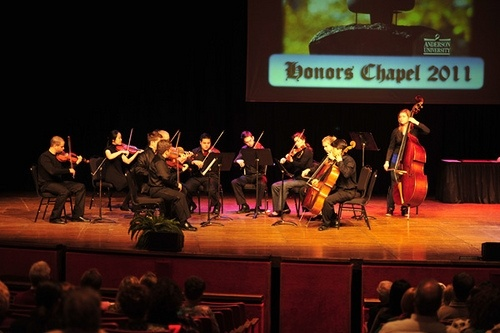 Honors Chapel at Anderson University concludes the academic year each spring to celebrate academic achievements for freshmen through seniors.