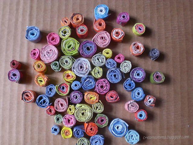 Diario di una Creamamma: Come fare dei rotolini di carta riciclata