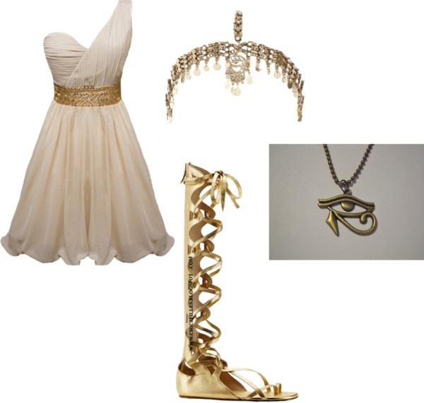"""Jade's egyptian outfit"" by midnightstar121 ❤ liked on Polyvore"