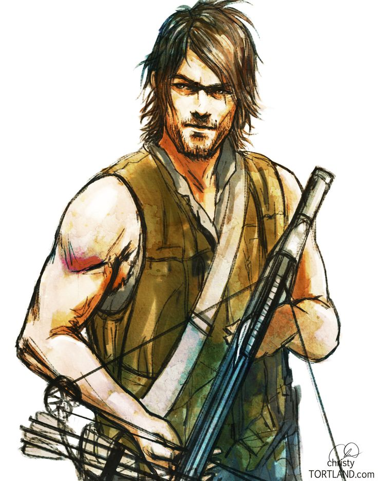 Daryl Dixon piece, final. Prints available upon request.Done for a family member who's a HUGE Daryl fan.Open for commissions.