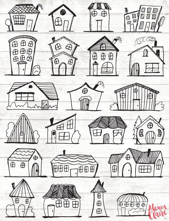 Doodle House Clipart House Vector Art Home House City