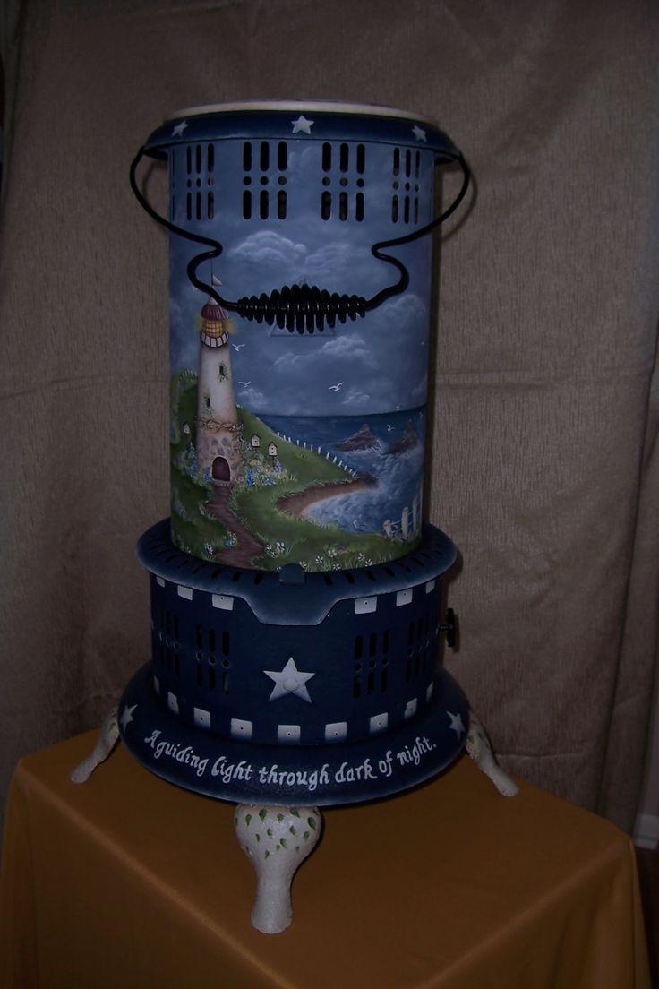 17 best images about painted kerosene heater on pinterest for Decorative rocket stove