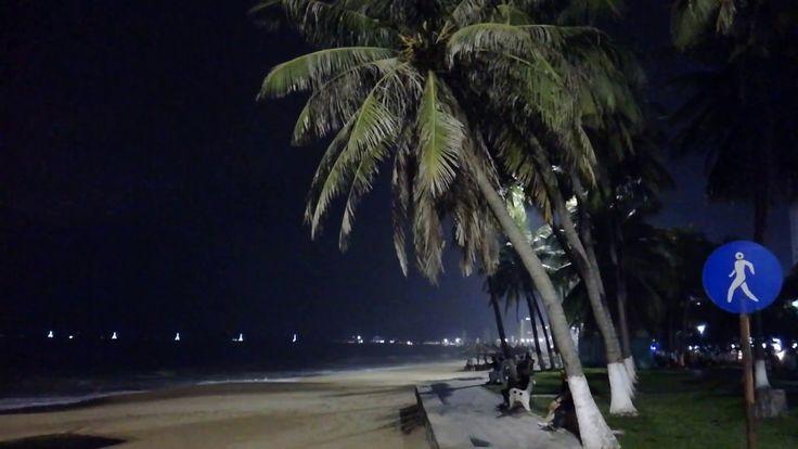 Nha Trang beach by night   #Nhatrang #vietnam #beach #night