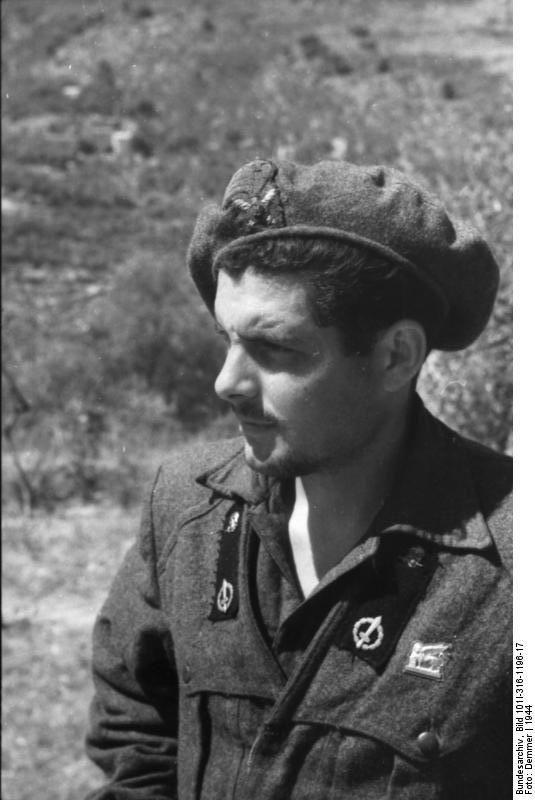 "Italian R.S.I soldier belonging to the ferocious facist unit ""X MAS"". Italy  1944"