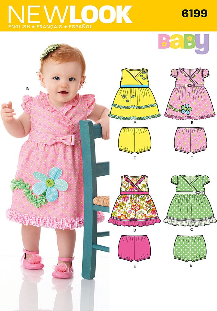 Simplicity Creative Group - Babies' Dress and Panties: Creative Group, Baby Clothes, Babies Dress, Baby Girl, Simplicity Creative, Baby Dresses, Simplicity Patterns, Sewing Patterns
