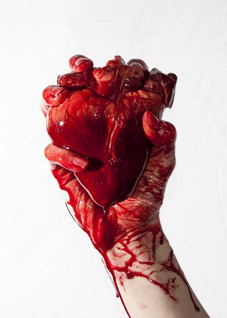 Heart by Lucien Hughes, via Flickr - YUP....i let him have it and he squished it with no thought in the world...