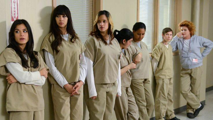Orange Is The New Black:  Maritza Ramos, Flaca /  Marisol Gonzales, Daya / Dayanara Diaz, 2 extras, Gina Murphy, and Red / Galina Reznikov.