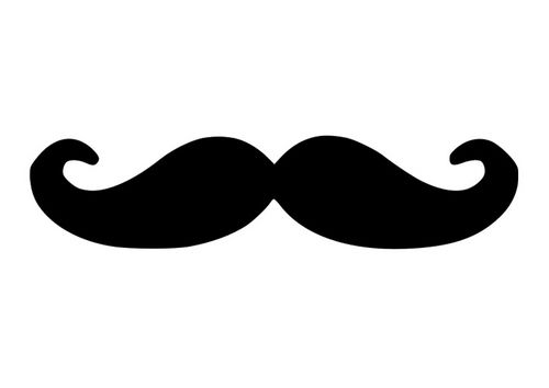 kleurplaat snor moustache