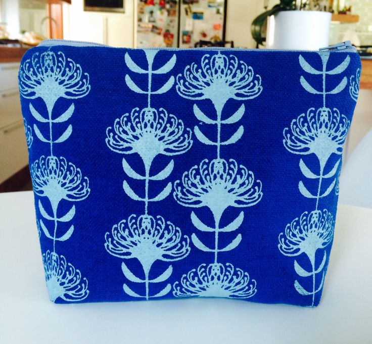 SQ LA cosmetic bag in Snorkel blue with Duck-egg £14.00 suziequ.co.uk