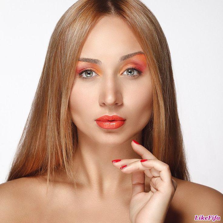 #Макияж_в_оранжевых_оттенках, #макияж_визажиста_в_Москве, #макияж_для_фотосессии