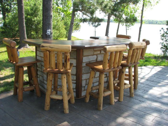 54 Best Rustic Log Outdoor U0026 Patio Furniture.. Get Back To Nature Images On  Pinterest | Outdoor Patios, Outdoor Furniture And Log Furniture
