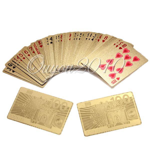 24-K-999er-Gold-Folie-Goldkarten-Poker-Karten-500-Motive-Spielkarten-Zertifikat