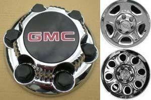 16 17 Inch OEM GMC 6 Lug Chrome Plated Center Cap Hubcap Wheel Rim Cover 1999-2013 1500 Pickup Truck VAN SUV Sierra Savana Yukon 5129 5223 7.25 by GMC