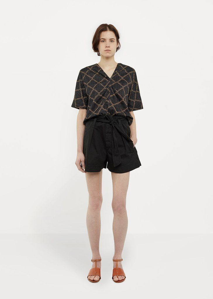 Shop Oscar Shorts from Isabel Marant …toile at La GarÁonne. La GarÁonne offers curated designer goods from luxury and emerging designers.