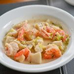Here is a Shrimp and Fish Chowder recipe that is a simple yet delicious seafood chowder. Shrimp or prawns, fish and vegetables are added to this soup.