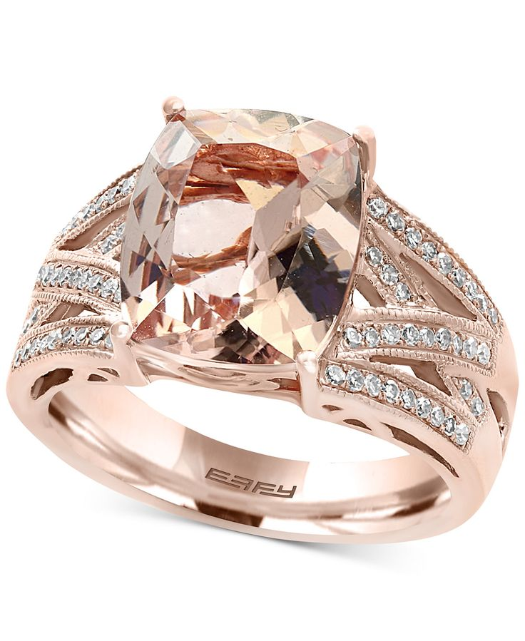 Allurez 14kt White Gold Oval Morganite & Halo Diamond Engagement Ring - UK G 1/4 - US 3 1/2 - EU 45 3/4 hOJVPe6