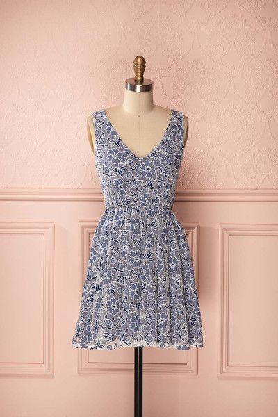 "Elsie - Navy blue and white floral lace sleeveless dress. Potential ""ring bearer bearer"" dress?"