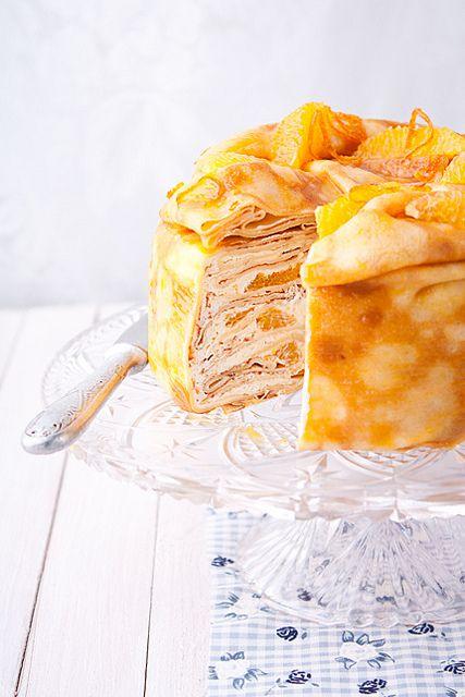 Блинный торт с апельсином