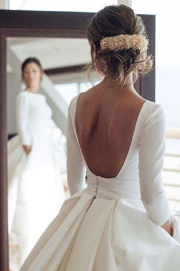 Outlet Soft 2019 Wedding Dresses, Ivory Wedding Dresses