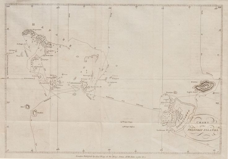 18th Century Chart of the Friendly Islands (Tonga)