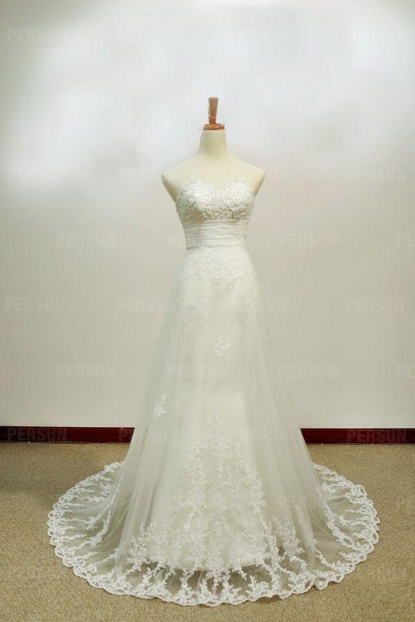 Strascico #Staccabile #Stile Sirena #Vestiti Da #Sposa - Persunit.com