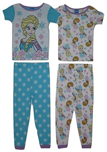 17233c9f5 Frozen Toddler Girls' 4 Piece Cotton Pajama Set, 4T | women fashion ...