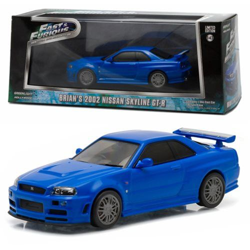 Fast and Furious 2009 Movie 2002 Nissan Skyline GT-R 1:43 Scale Die-Cast Metal Vehicle
