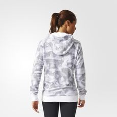 adidas - Essentials 3-Stripes Paper-Print Hoodie