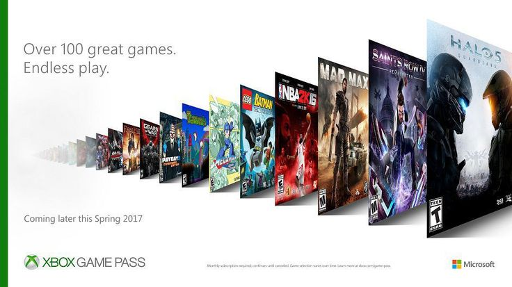Halo 5 Guardians headlines new Xbox subscription service     - CNET                                                     Xbox                                                  Like a Netflix for video games the Xbox Game Pass will offer you access to more than 100 games at a time when it launches this spring.  A new subscription service for Microsofts video game console Xbox One Xbox Game Pass will cost $10 a month and include titles both from this generation of games and backwards compatible…