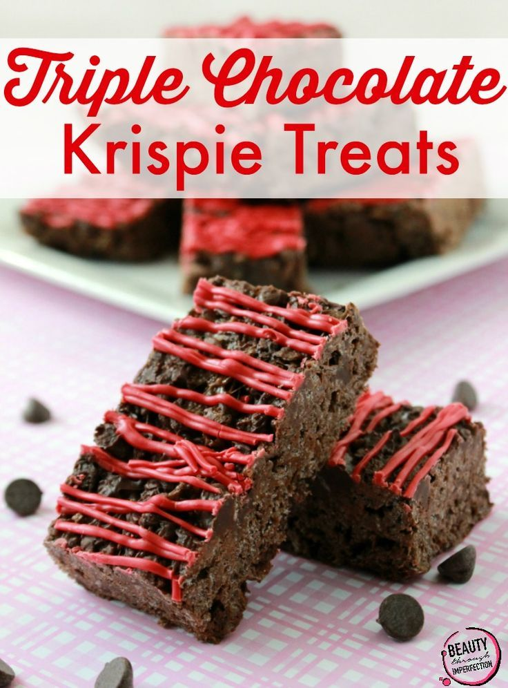 Triple Chocolate Krispie Treats - Beauty Through Imperfection