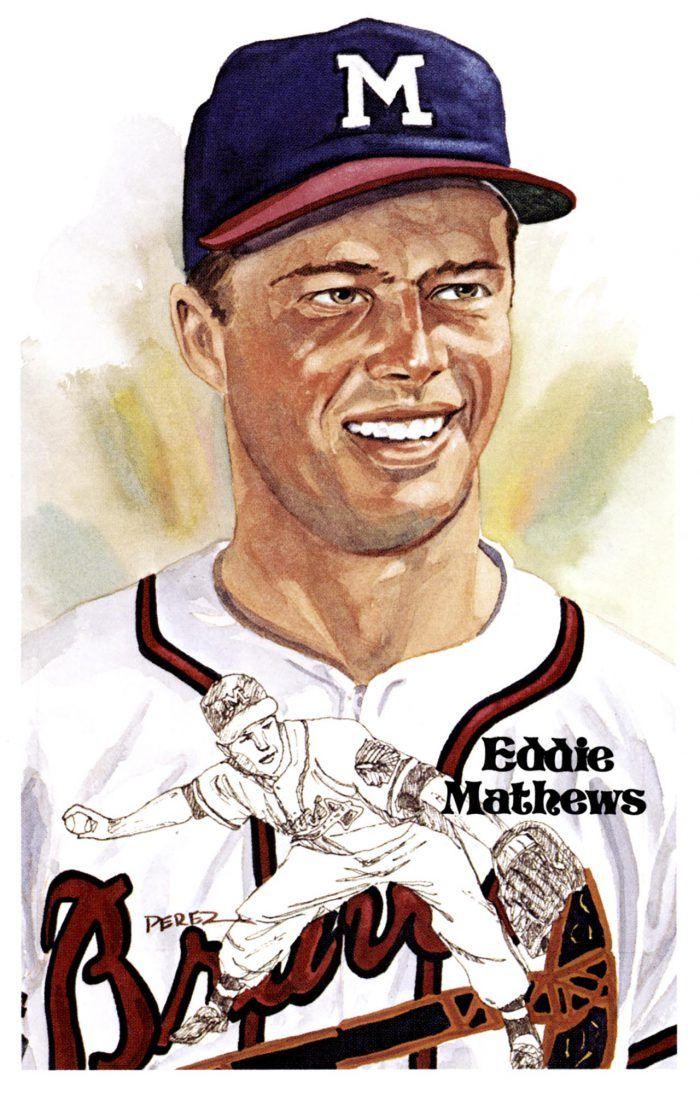 Mejores 35 imágenes de EDDIE MATHEWS en Pinterest | Arte de béisbol ...