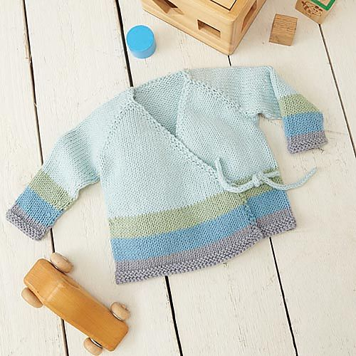 Soft hues of Willow Meadow yarn will wrap baby in softness with this darling sweater.
