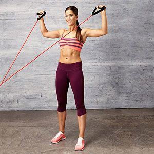 arm exercises, resistance band required