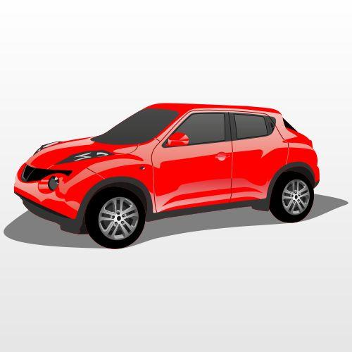 Nissan Juke. Free Vector Illustration