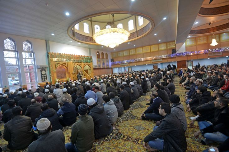 Muslims gathered on Friday lunchtime at Manchester Central Mosque to emphasise that killings said to have been committed by Islamic fundamentalists are 'not done on our name'