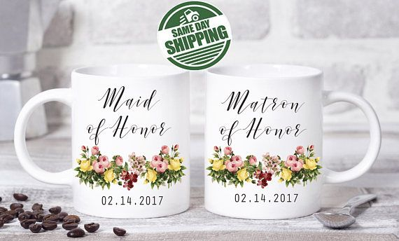 matron of honor gift, matron of honor mug, matron of honor, matron of honor, matron of honor proposal, matron of honor gifts, matron gifts  This cute design will be printed on best quality Grade A fully white Mugs or Mugs with black handle. If you prefer, we can print design on one side and special message on the other side. Kindly specify in order notes. We use dye sublimation and heat transfer technique to print the design on the mugs. This ensures that the design and the words will look…