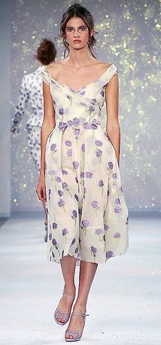 luisa beccariaLilac Floral, Evening Dresses, Floral Prints, Cocktails Dresses, Chiffon Floral, Cocktail Dresses, Feminine Dresses, Floral Dresses, Purple Flower
