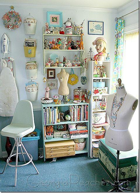 cute sewing space
