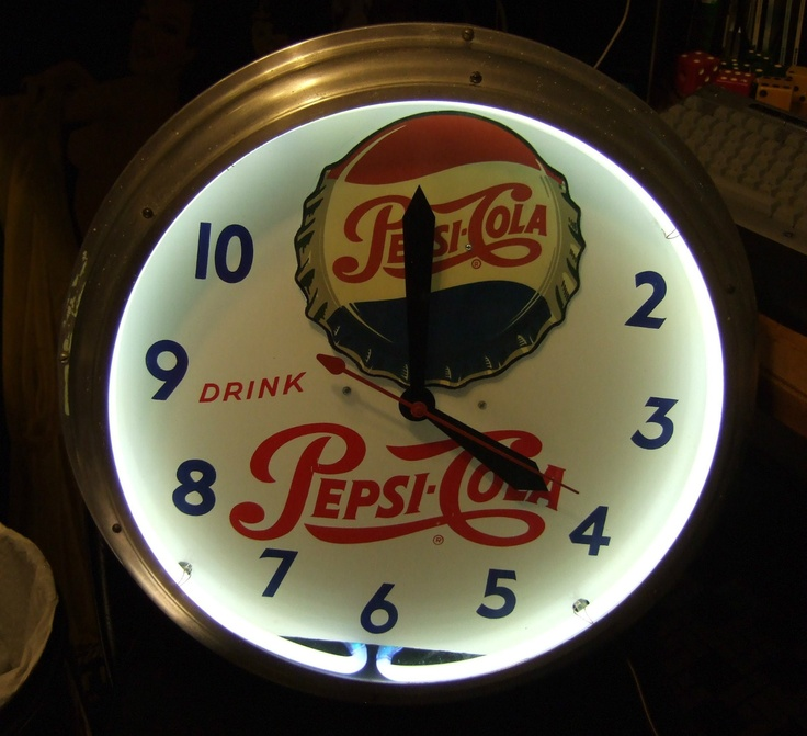 Vintage Pepsi Cola Clock