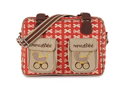 Pink Lining 14AW155 Wickeltasche Mama et B�b� - Cream Bows, rot