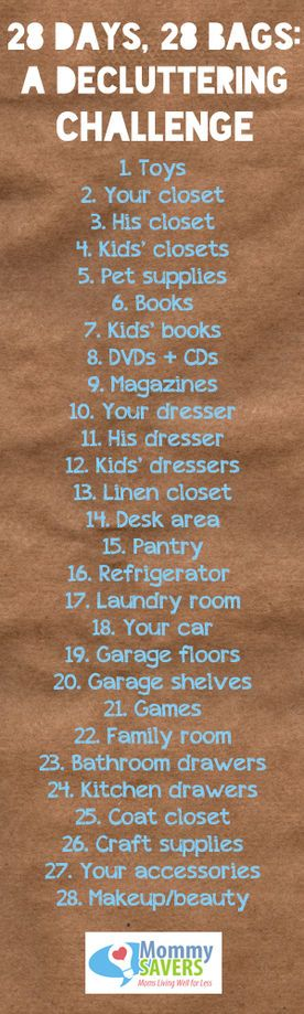 28 Days, 28 Bags ~ A Decluttering Challenge -- I could actually do this!
