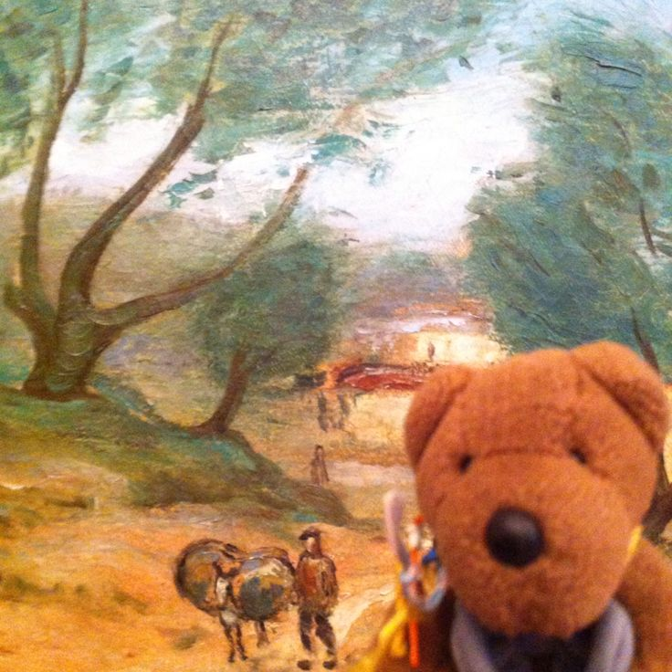 Friedeltje visited the Art Museum Riga Bourse. He was very enthusiastic about the building and the collection. He descided to take a selfie in front of his favourite painting: Aleksandr Drevin, Armenia, landscape with a donkey, 1933