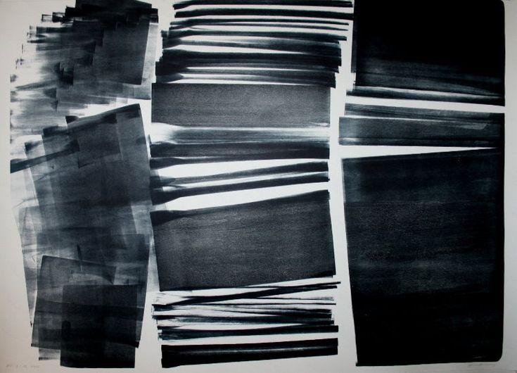Hans HARTUNG : Lithographie originale : L-12-1974