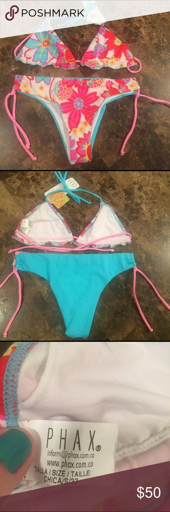 Gorgeous flowered 2 piece Phax bikini Gorgeous flowered 2 piece Phax bikini, enhance your figure with this sexy moderate rear coverage ! Phax Swim Bikinis