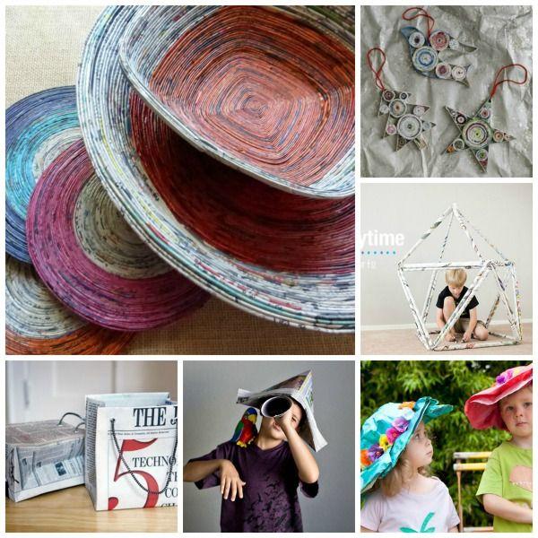 25 newspaper craft ideas creative furniture and papier for Paper mache furniture ideas