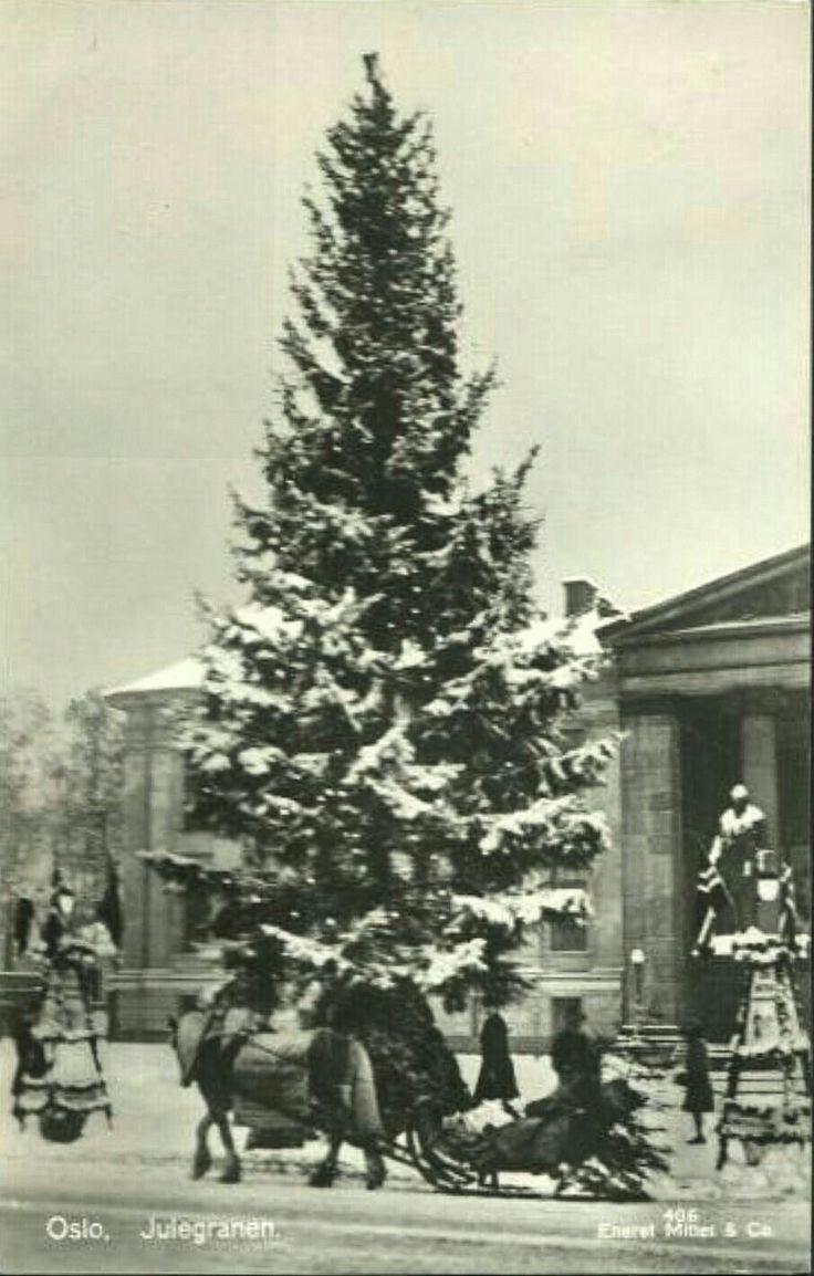 Oslo Julegranen på Universitetetsplassen. Utg Mittet Stemplet 1932
