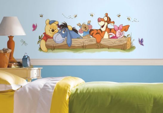 Adesivi murali - Adesivo murale - Winnie the Pooh - Divertimento all'aperto