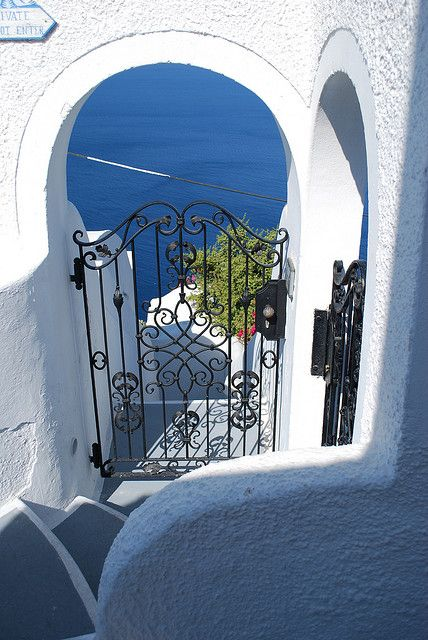 Stairs to Aegean Sea, Santorin, Greece  Santorini has always been a place I must visit, before the end.