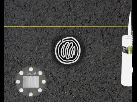 #geco #led #lights #solar #energy #kerakoll #glue #asphalt #pose #cycle #tracks #pulse