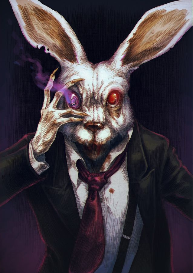 149 best evil easter bunny images on Pinterest | White ... - photo#31